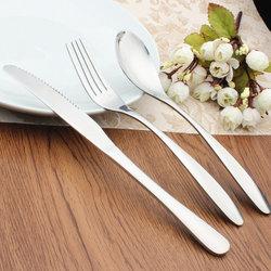 悦霓佳(YUENIJIA) 西式刀叉勺3件套 不锈钢西餐餐具 牛排刀叉套装 高档西餐具 不锈钢西餐餐具套装【已结束】