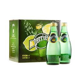 Perrier 巴黎水  含气风味饮料组合装(含气柠檬味饮料+含气青柠味饮料)1.98L(6*330mL)箱