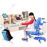 心家宜 M104_M207R 大号手摇机械升降儿童学习桌椅套装