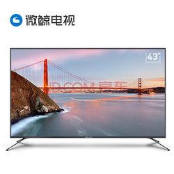 限地区:微鲸(WHALEY)43D2F3000 43英寸全高清超薄 1GB+16GB 人工智能语音互联网LED液晶平板电视机(灰色)