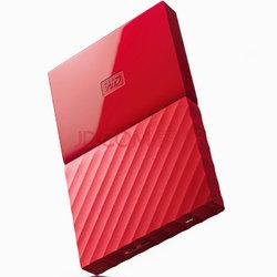 西部数据(WD)New My Passport 1TB 2.5英寸 中国红 移动硬盘 WDBYNN0010BRD-CESN