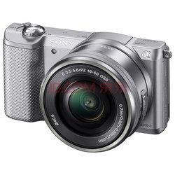 索尼(SONY)ILCE-5000L APS-C微单单镜套机 银色(2010万有效像素 16-50mm镜头 F3.5-5.6 a5000L/α5000)