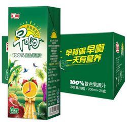 汇源 早啊 100%复合果蔬汁 200ml*24盒 *3件