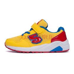 361度 男童跑鞋舒适儿童运动鞋 K79110031 黄/红 37 *2件108元(合54元/件)