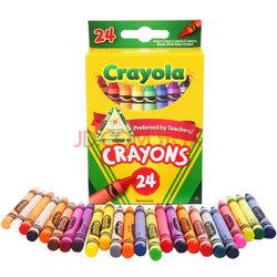 绘儿乐 Crayola DIY儿童文具 绘画工具 24色彩色蜡笔 52-3024【已结束】