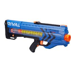 孩之宝(Hasbro)NERF热火 竞争者系列 宙斯1200发射器(蓝色)户外玩具B1593