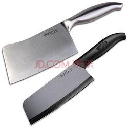 美瓷(MYCERA)钢刀砍骨刀 6.5寸陶瓷切菜刀 单刀 刀具套装 组合切片砍骨刀2件套TGD03B-B