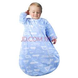 米乐鱼宝宝秋冬夹棉睡袋婴儿纯棉二段一体式防踢被嘟嘟车 80cm