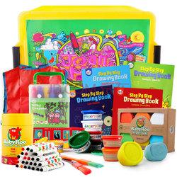 Joan Miro 美乐 儿童手工绘画礼盒11件套+手指画手提箱+ 手工马赛克贴纸    208.7元包邮(需用券)