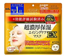 中亚Prime会员!KOSE 高丝 EX胶原紧致超浓厚八合一保湿美容液面膜40片