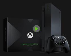 微软 Xbox One X 家庭娱乐游戏机 天蝎限量版 1TB  3999元