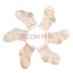 elepbaby 象宝宝 彩棉条纹婴儿袜 6双装 8-10cm (0-6个月) *2件    59元(合29.5元/件)