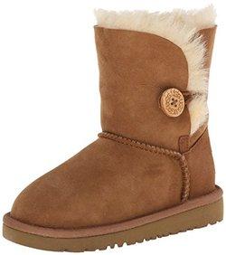 UGG Austr阿lia 女童 时装靴 K BAILEY BUTTON 20659 棕色 31 (US 1)(亚马逊进口直采,美国品牌)