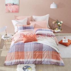 博洋家纺(BEYOND)床品套件 全棉磨毛保暖花卉床单四件套 苏格拉1.5米床 200*230cm