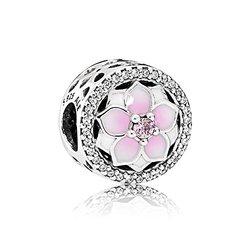 Pandora 潘多拉 粉色木兰花串饰串珠子    379元包邮