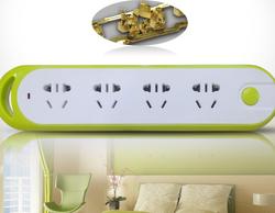 德力西 电源插座 拼色系列排插带总开关电源插线板 二位五孔+一位二孔 1.8米