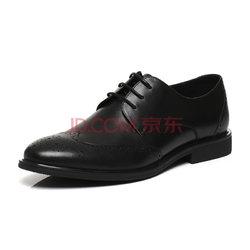 BeLLE百丽  牛皮男皮鞋商务休闲鞋男鞋 黑色 39 21601AM7338元
