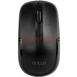 多彩(Delux)M136 无线光学鼠标办公台式机笔记本共用四档DPI循环切换 黑色