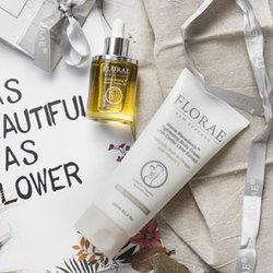 FLORAE孕妇护肤品天然植物套装2件套(身体乳+精油) 孕妇化妆品馥洛蕾