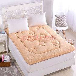 雅鹿自由自在床垫床褥子学生宿舍床垫子单人双人床垫被 驼色 1.5m床150*200cm
