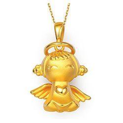 CHOW TAI FOOK 周大福 R7260A 福星宝宝之家和宝宝 3D硬金 足金吊坠 2.65g    2234.85元包邮(双重优惠)【已结束】