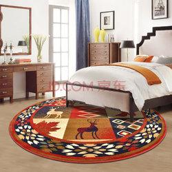 历史新低: 绅士狗 美式加厚高密圆形地毯 1.5米 +凑单品    263.33元包邮(双重优惠)