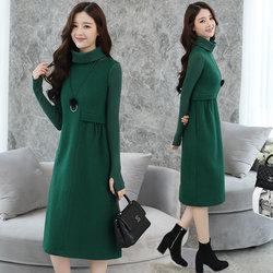 RANJU然聚  2017女装秋冬季新品新款长袖连衣裙