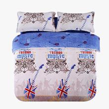 当当优品暖绒四件套 加厚法莱绒保暖床单款床品 双人加大1.8米床 英国国旗【已结束】