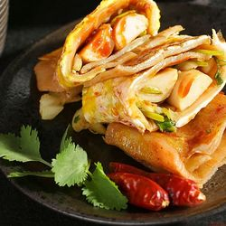 长湘怡 韩国烤冷面片 30片 送2袋酱料+刷子