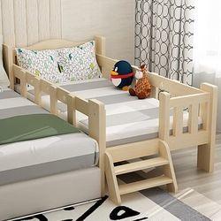 晟義德 实木儿童床 四面护栏带尾梯 150*80*40cm