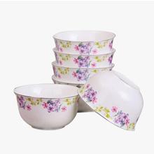 当当优品 4.5寸新骨瓷金钟碗 6只装 满庭芳香