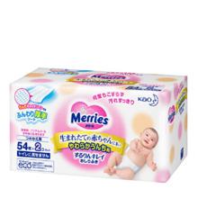 日本花王(Merries)加厚婴儿湿纸巾 54枚*2包【已结束】