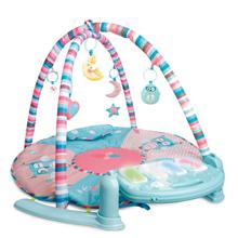 zak!合翔多合一钢琴健身架 婴儿早教益智音乐多功能玩具(圆形)带遥控器 礼盒装