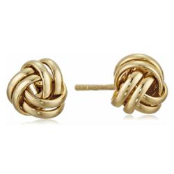 Amazon Collection EV1760A 纯银镀金纽扣结造型耳钉