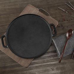 当当优品 手工铸铁双面煎盘 30cm