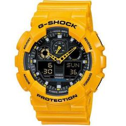CASIO 卡西欧 G-SHOCK GA-100A-9ADR 男士双显运动手表