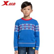 特步 男童毛衣针织毛衫