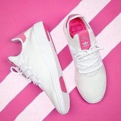双12预告、历史新低: adidas 阿迪达斯 X Pharrell Williams Tennis Hu 中性款休闲运动鞋 *2件