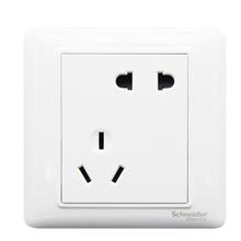 施耐德 开关插座 插座面板 10A斜五孔插座 睿意系列 白色