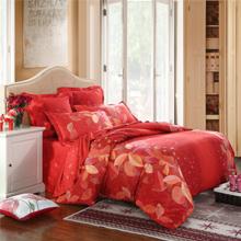 LOVO罗莱生活出品 全棉缎纹六件套 婚庆床上用品 弗吉尼亚 200*230cm