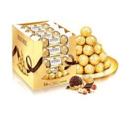 Ferrero Rocher 费列罗 榛果威化 非手工巧克力 盒装 48粒 600g+16粒 200g【已结束】