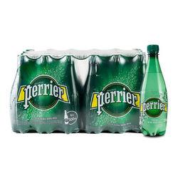 perrier 巴黎水 气泡矿泉水 原味/青柠/柠檬味 塑料瓶装 500ml*24瓶