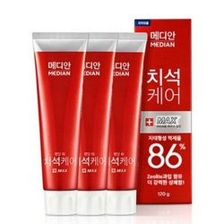 MEDIAN 深层清洁护齿牙膏 红色 120g*3支 *2件
