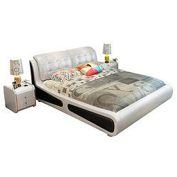 忆斧至家 软体皮艺床(1.8米皮床+椰棕床垫+2柜) 框架结构