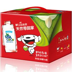 VITA COCO 唯他可可 天然椰子水 500ml*6瓶 礼盒箱装 *4件