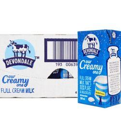 Devondale 德运 全脂纯牛奶 200ml 24盒 *4件