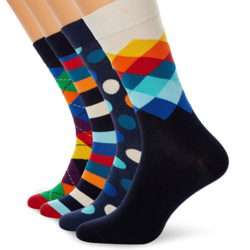 Happy Socks 男士中筒袜 4双装 *2套【已结束】