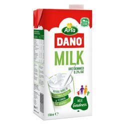 arla dano 阿拉 UHT 脱脂纯牛奶0.3g脂肪 1L*12盒 *5件【已结束】
