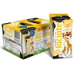 波兰 Laciate UHT牛奶 香蕉味 200ml*12盒 *5件