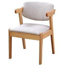 一米色彩 实木椅子 (原木色 可拆洗坐垫)